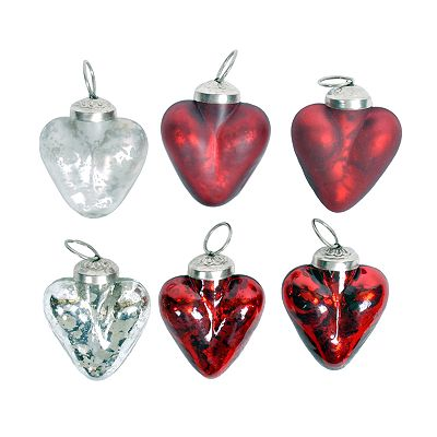 St. Nicholas Square 6-pk. Heart Ornaments