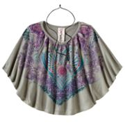 Knitworks Heart Medallion Sublimation Circle Top - Girls Plus