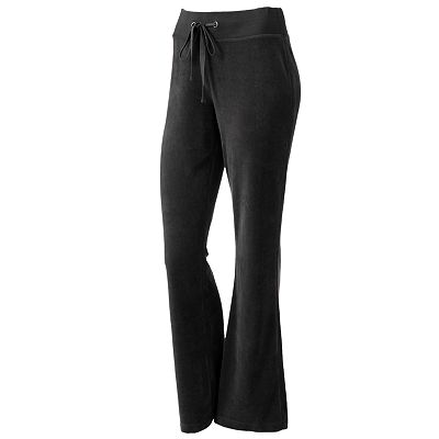 Tek Gear Fit and Flare Velour Pants - Women's Plus
