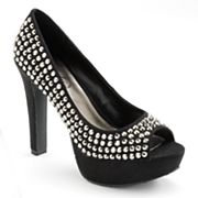 Candie's Studded Peep-Toe Platform High Heels - Women