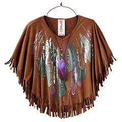 Knitworks Feather Fringe Circle Top - Girls 7-16