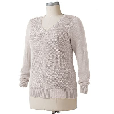 Apt. 9 Textured Sweater - Women's Plus