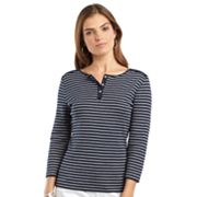 Chaps Striped Henley