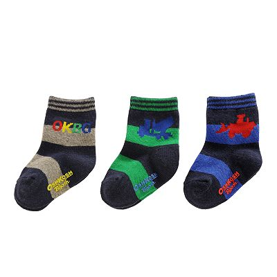 OshKosh B'gosh 3-pk. Striped Truck Socks - Baby