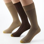GOLDTOE 3-pk. Fashion Dress Socks - Extended Size