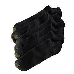 Extended Size GOLDTOE 6 pkUltra Tec No-Show Socks