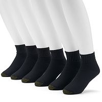 GOLDTOE 6-pk. Ultra Tec Quarter Socks - Extended Size