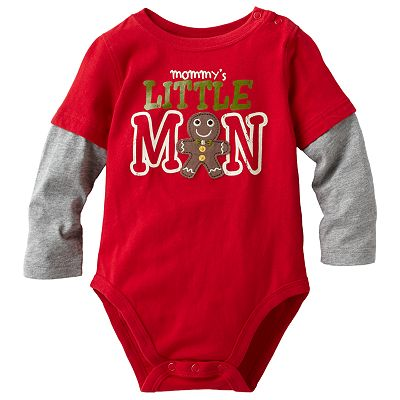 Jumping Beans Mock-Layer Snowman Bodysuit - Baby