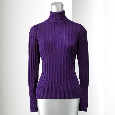 Simply Vera Vera Wang Ribbed Turtleneck Sweater