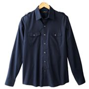 Marc Anthony Slim-Fit Solid Woven Casual Button-Down Shirt - Big and Tall
