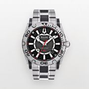 Bulova Precisionist Champlain Stainless Steel and Black Carbon Fiber Watch - 96B156 - Men