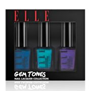 ELLE Cosmetics Gem Tones Nail Lacquer Trio Collection