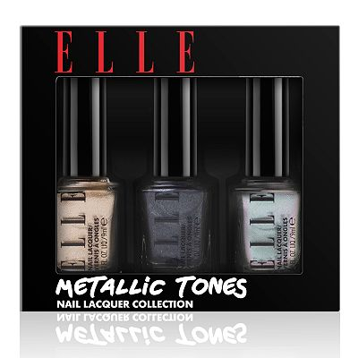ELLE Cosmetics Metallic Tones Nail Lacquer Trio Collection