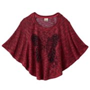 Mudd Butterfly Poncho Top - Girls 7-16