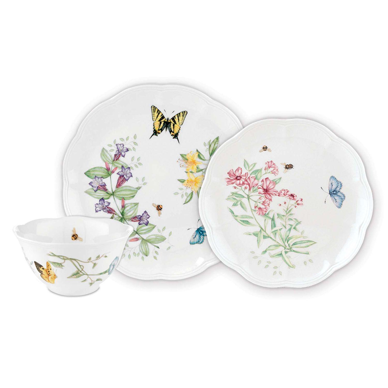 Dinnerware Set  sc 1 st  Kohlu0027s & Lenox Butterfly Meadow 3-pc. Dinnerware Set | Kohls