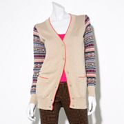 Princess Vera Wang Geometric Lurex Cardigan - Juniors