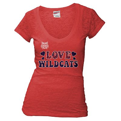 Soffe University of Arizona Love Wildcats Burnout Tee