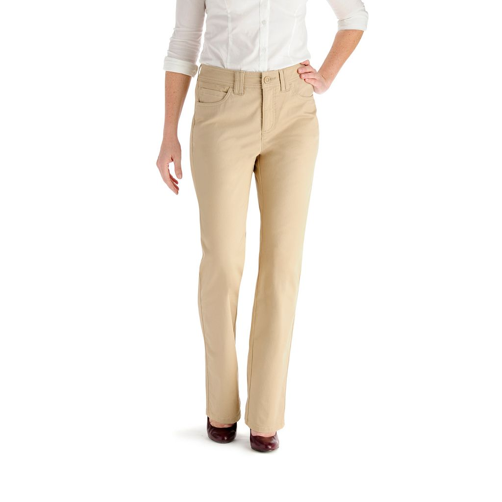 Lee Jackie Classic Fit Slimming Straight-Leg Pants - Women's