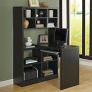 Monarch Reversible Corner Bookcase Desk