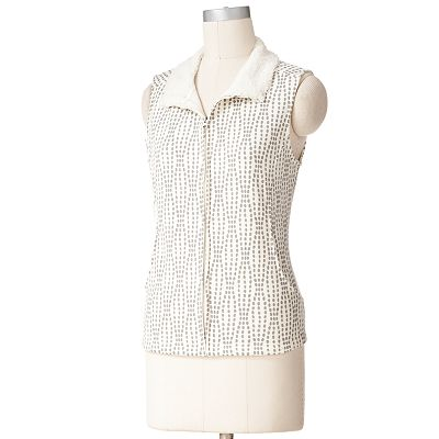 Croft and Barrow Polka-Dot Vest