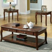 Monarch 3-pc Coffee and End Table Set