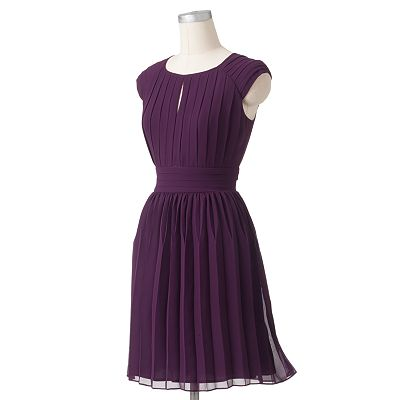 Expo Accordion-Pleat Chiffon Dress