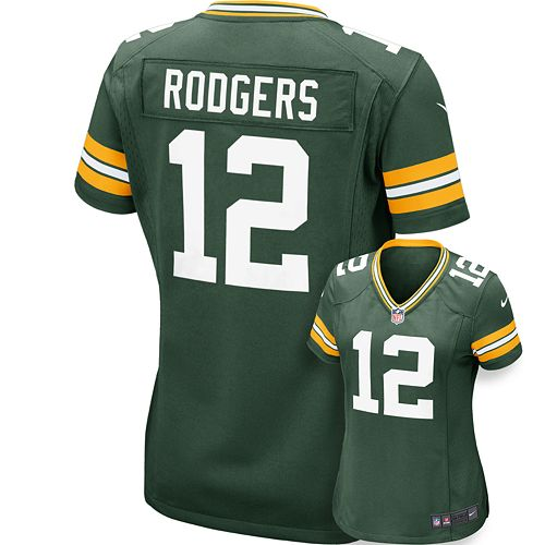 uk availability 21bb4 ae55e Women's Nike Green Bay Packers Aaron Rodgers Jersey