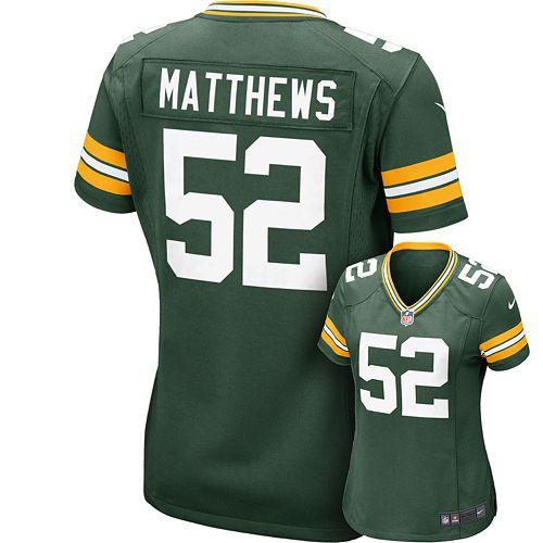 sports shoes 29452 e960b Women's Nike Green Bay Packers Clay Matthews NFL Jersey