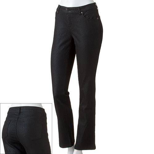 Women's Jennifer Lopez Snakeskin Straight-Leg Jeans