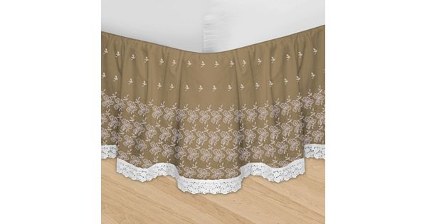 Kohls gray bed skirt : Veratex huys adjustable embroidered bed skirt