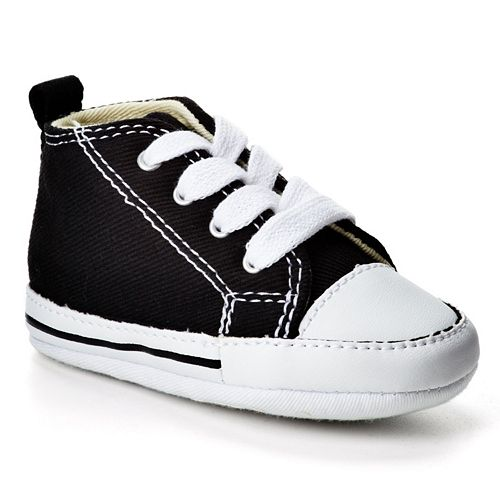 139545bd99ad Baby Converse First Star Crib Shoes
