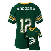 Green Bay Packers Aaron Rodgers Jersey Tee - Girls 7-16