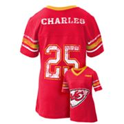 Kansas City Chiefs Jamaal Charles Jersey Tee - Girls 7-16