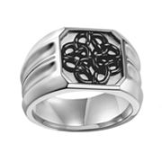 AXL by Triton Stainless Steel Celtic Knot Ring - Men