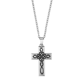 AXL by Triton Stainless Steel Celtic Knot Cross Pendant - Men
