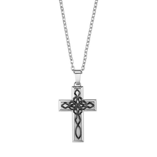 AXL by Triton Stainless Steel Celtic Knot Cross Pendant - Men