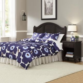 Bermuda Queen Floral Headboard & Nightstand