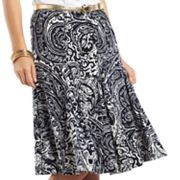 Chaps Scroll Godet Skirt