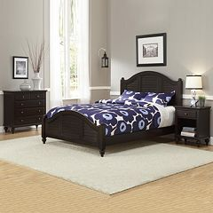 Home Styles Bermuda Espresso Queen Bed, Nightstand and Chest