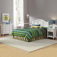 Bermuda White Queen Headboard, Nightstand & Chest
