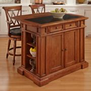 Deluxe Traditions 3-pc. Kitchen Island and Counter Stools Set