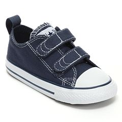 c96098d4bac6 Toddler Converse All Star Sneakers. Black White Navy White