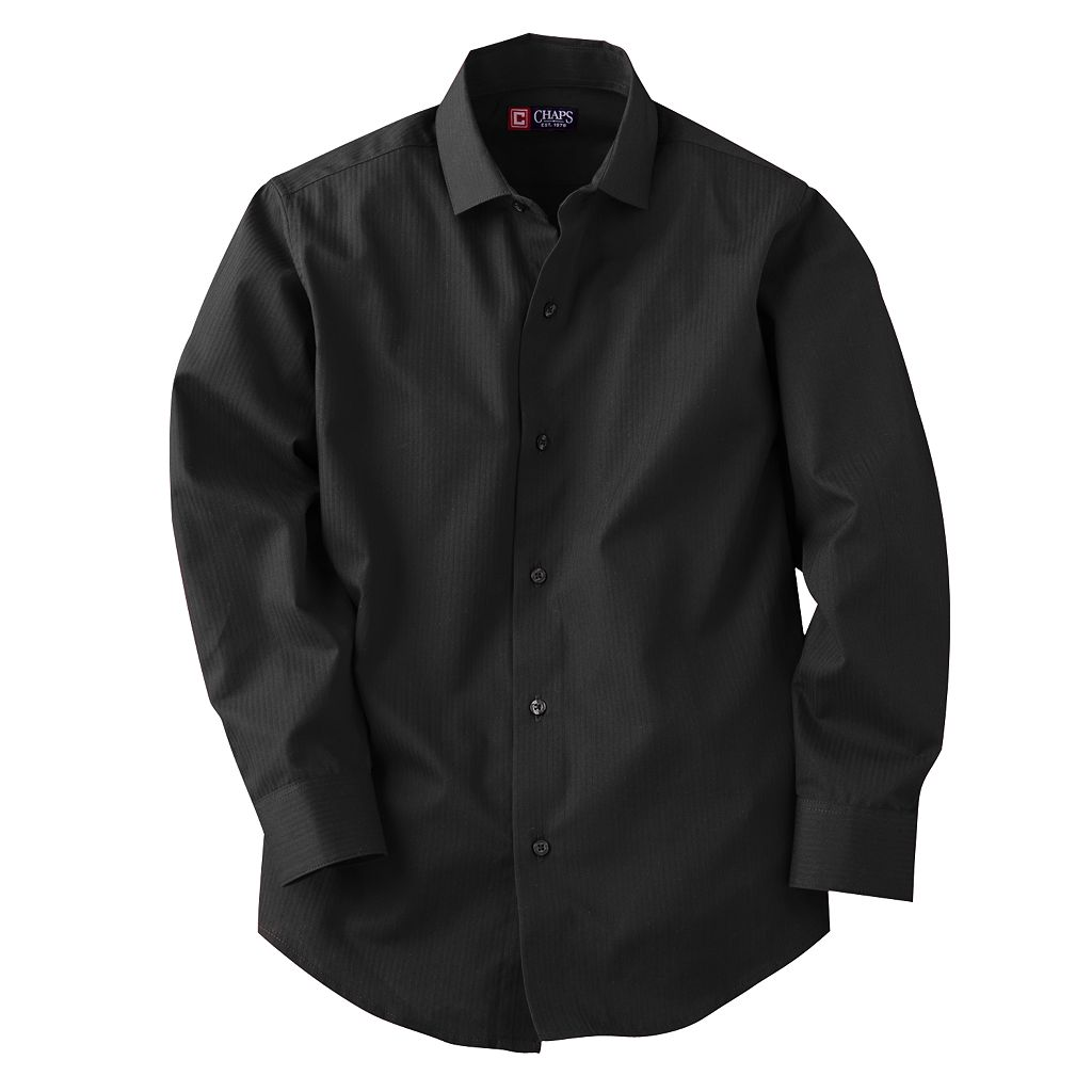 Chaps Tonal-Striped Button-Down Shirt - Boys 8-20