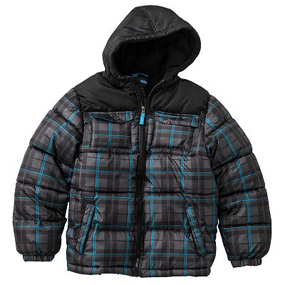 Arctic Quest Plaid Bubble Jacket - Boys 8-20