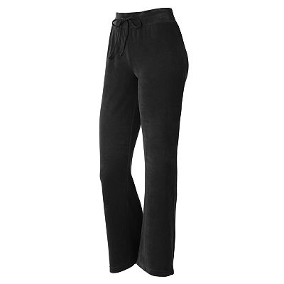 Croft and Barrow Straight-Leg Velour Pants - Petite