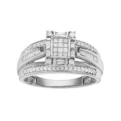 Diamond Engagement Ring in 10k White Gold (1\/2 ct. T.W.) by