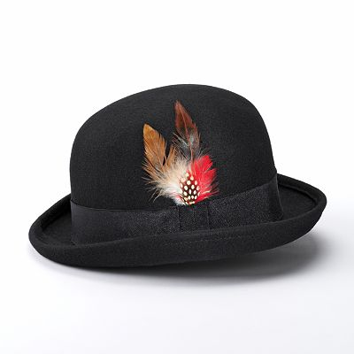 Apt. 9 Feather Bowler Hat