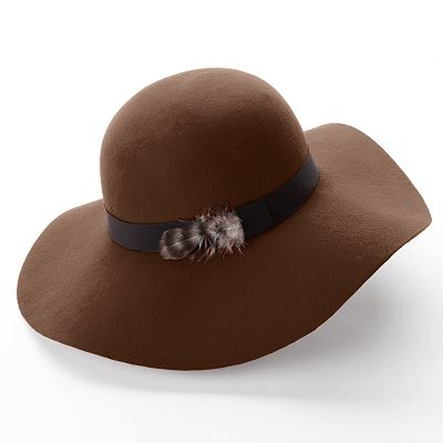 Apt. 9 Feather Floppy Hat