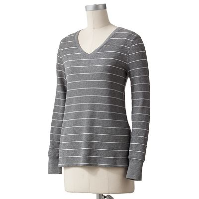 SONOMA life + style Striped Thermal Tee