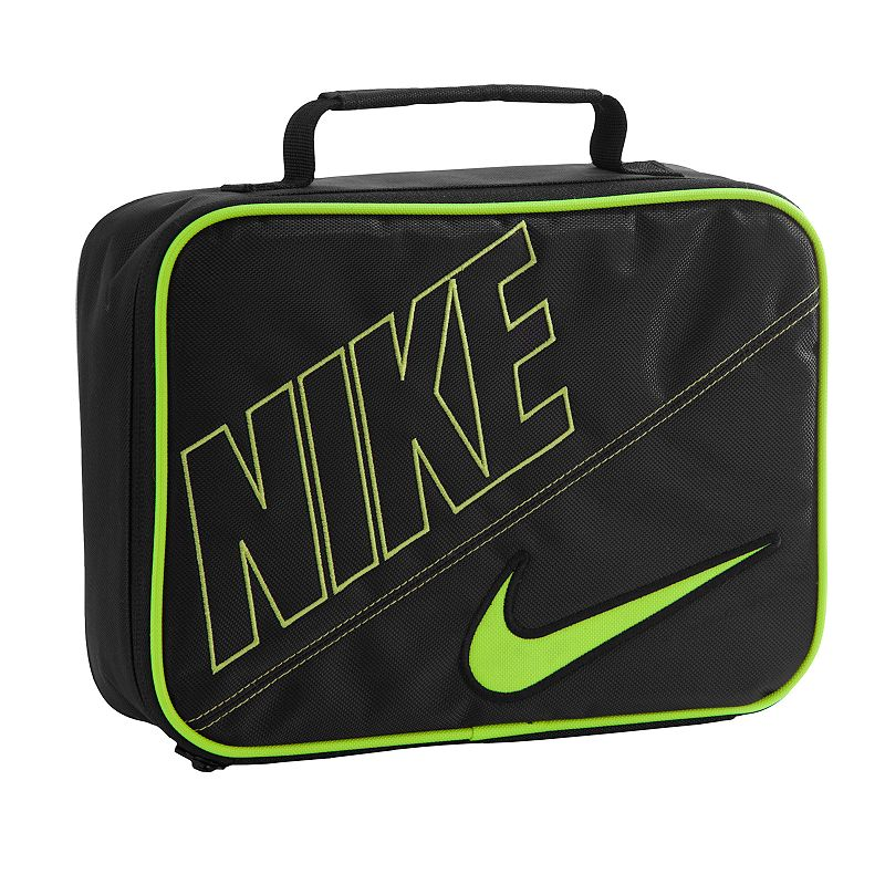 Nike Lunch Tote, Grey Signature Swoosh logo adds sporty appeal. Top handle makes carrying easy. Durabledesign ensures lasting use and easycleaning. Details: Zipper closures Polyester Wipe clean Model no. 9A2217A . Size: One Size. Color: Grey.